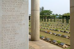 Allied War Memorial Cemetery (Htauk Kyant) Royalty Free Stock Photos