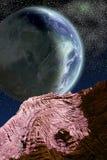 allien большая планета иллюстрация штока