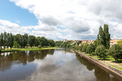 Allier river in Pont-du-Chateau (France) Stock Images