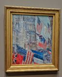 Allies Day, May 1917 Childe Hassam. Impressionist inspired artwork displayed at the National Gallery of Art in Washington DC celebrating armistice of World war royalty free stock image