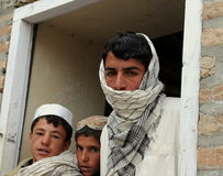 Allievi afgani Fotografie Stock Libere da Diritti