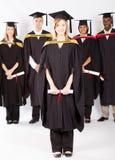 Allievi alla graduazione Fotografie Stock
