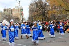Allievi alla parata di natale a Toronto Fotografia Stock