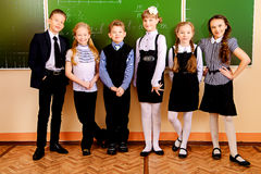 Allievi alla scuola Fotografie Stock Libere da Diritti