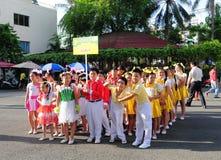 Allievi alla scuola elementare in Tan Binh, Saigon, Vietnam Immagini Stock Libere da Diritti
