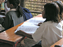 Allievi in aula - Cambogia Fotografie Stock Libere da Diritti