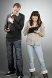 Allievi che esercitano nuovo techonolgy Fotografia Stock