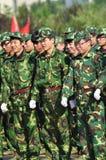 Allievi che fanno addestramento militare Fotografia Stock
