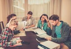 Allievi che preparano per gli esami Immagini Stock Libere da Diritti