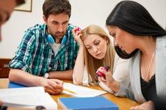 Allievi che studiano insieme Immagini Stock