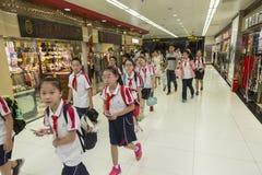Allievi cinesi Fotografia Stock Libera da Diritti