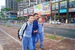 Allievi cinesi Immagine Stock Libera da Diritti