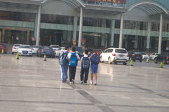 Allievi cinesi Immagine Stock