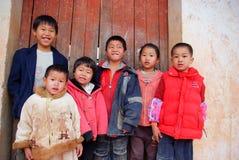 Allievi cinesi del banco primario immagine stock