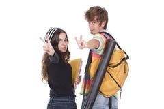 Allievi degli adolescenti Fotografie Stock Libere da Diritti