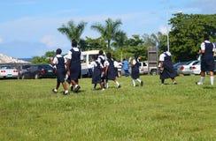 Allievi delle Bahama in uniforme Fotografie Stock Libere da Diritti