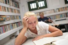 allievi delle biblioteche Immagine Stock Libera da Diritti