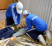 Allievi di addestramento nel pronto soccorso Immagini Stock