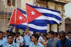 Allievi di Avana marzo Fotografia Stock