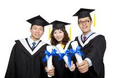 Allievi di graduazione Fotografia Stock Libera da Diritti