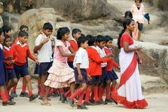 Allievi ed insegnante indiani Immagini Stock Libere da Diritti