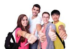 allievi felici del gruppo Immagine Stock Libera da Diritti