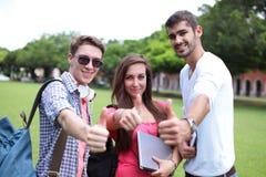 allievi felici dell'istituto universitario Fotografie Stock Libere da Diritti