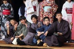 Allievi giapponesi Immagini Stock Libere da Diritti