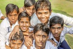 Allievi indiani sull'uscita della classe A Immagine Stock