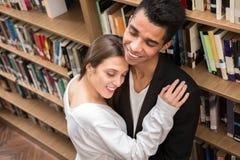 Allievi in libreria Immagini Stock