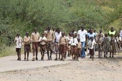 Allievi nel Kenia Fotografia Stock Libera da Diritti