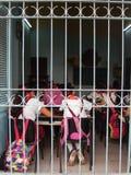 ALLIEVI NELL'AULA, AVANA, CUBA Fotografia Stock Libera da Diritti