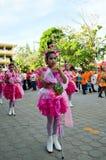 Allievi non identificati nella parata, Songkhla Tailandia Immagini Stock Libere da Diritti