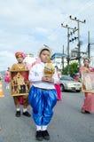 Allievi non identificati nella parata, Songkhla Tailandia Immagine Stock