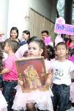 Allievi non identificati nella parata, Songkhla Tailandia Fotografie Stock