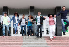 Allievi per completare anno accademico Fotografia Stock