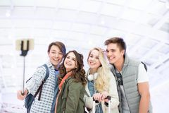 Allievi sorridenti Immagini Stock Libere da Diritti