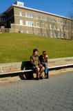 Allievi sulla città universitaria Fotografia Stock