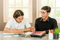 Allievo adolescente in aula con l'insegnante privato Immagine Stock Libera da Diritti