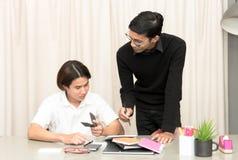Allievo adolescente in aula con l'insegnante privato Fotografie Stock Libere da Diritti