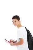 Allievo adolescente con il sacchetto di kit Immagine Stock