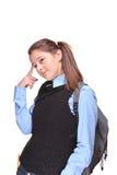 Allievo adolescente femminile Pensive Fotografie Stock Libere da Diritti