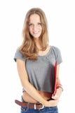 Allievo adolescente sorridente Fotografia Stock Libera da Diritti
