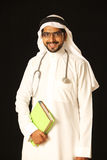 Allievo arabo del medico Immagini Stock Libere da Diritti