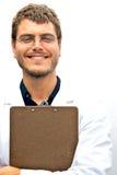 Allievo attraente dello scienziato Fotografie Stock Libere da Diritti