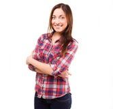 Allievo attraente Sorriso felicità Immagini Stock Libere da Diritti