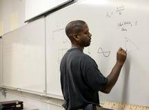 Allievo avanzato di per la matematica Immagine Stock