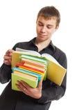 Allievo con i libri. Immagine Stock Libera da Diritti