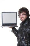 Allievo con il computer portatile Immagini Stock