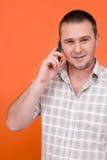Allievo con il telefono delle cellule Immagini Stock